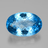 thumb image of 102ct Oval Checkerboard Swiss Blue Topaz (ID: 385707)