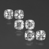 thumb image of 3.1ct Cushion-Cut White Topaz (ID: 387388)
