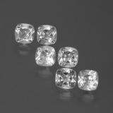 thumb image of 3.1ct Cushion-Cut White Topaz (ID: 387436)