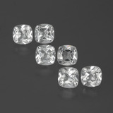 thumb image of 3.3ct Cushion-Cut White Topaz (ID: 387996)