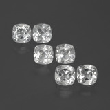 thumb image of 3ct Cushion-Cut White Topaz (ID: 388049)