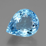 thumb image of 18.2ct Pear Facet Swiss Blue Topaz (ID: 395803)