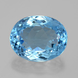 22.96 ct Oval Facet Swiss Blue Topaz Gem 19.22 mm x 15.4 mm (Photo B)