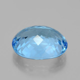 22.96 ct Oval Facet Swiss Blue Topaz Gem 19.22 mm x 15.4 mm (Photo C)