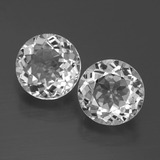 thumb image of 3.5ct Round Facet Clear White Topaz (ID: 396523)