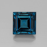 thumb image of 24.9ct Square Facet London Blue Topaz (ID: 396570)