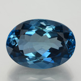 thumb image of 30.8ct Oval Facet London Blue Topaz (ID: 396972)