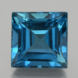 thumb image of 25.6ct Square Facet London Blue Topaz (ID: 396975)