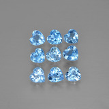 thumb image of 2.3ct Heart Facet Swiss Blue Topaz (ID: 399488)