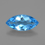 thumb image of 3.8ct Marquise Facet Swiss Blue Topaz (ID: 399751)