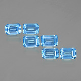 thumb image of 4.1ct Octagon Facet Swiss Blue Topaz (ID: 399761)