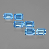 thumb image of 4ct Octagon Facet Swiss Blue Topaz (ID: 399762)