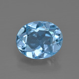 thumb image of 3.3ct Oval Facet Swiss Blue Topaz (ID: 401535)