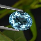 thumb image of 3.2ct Oval Facet Swiss Blue Topaz (ID: 401679)