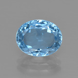 thumb image of 3.4ct Oval Facet Swiss Blue Topaz (ID: 401682)