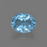 thumb image of 3ct Oval Facet Swiss Blue Topaz (ID: 402493)