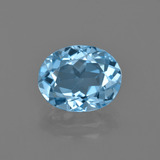 thumb image of 3.1ct Oval Facet Swiss Blue Topaz (ID: 402496)