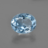 thumb image of 3.1ct Oval Facet Swiss Blue Topaz (ID: 404236)