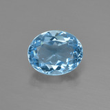 thumb image of 3.1ct Oval Facet Swiss Blue Topaz (ID: 404242)