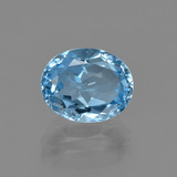 thumb image of 3.3ct Oval Facet Swiss Blue Topaz (ID: 404245)