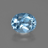 thumb image of 3.5ct Oval Facet Swiss Blue Topaz (ID: 404247)