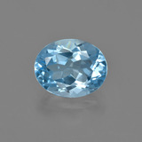thumb image of 3.2ct Oval Facet Swiss Blue Topaz (ID: 404315)