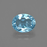 thumb image of 2.9ct Oval Facet Swiss Blue Topaz (ID: 404316)