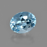 thumb image of 3.2ct Oval Facet Swiss Blue Topaz (ID: 404406)