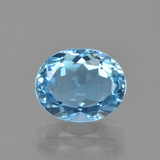 thumb image of 3.2ct Oval Facet Swiss Blue Topaz (ID: 404794)