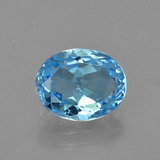 thumb image of 3.2ct Oval Facet Swiss Blue Topaz (ID: 404797)