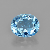 thumb image of 3.3ct Oval Facet Swiss Blue Topaz (ID: 404800)