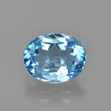 thumb image of 3.1ct Oval Facet Swiss Blue Topaz (ID: 404802)