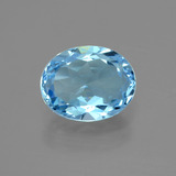 thumb image of 3.1ct Oval Facet Sky Blue Topaz (ID: 404891)