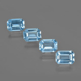 thumb image of 4.2ct Octagon Facet Swiss Blue Topaz (ID: 405123)