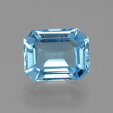 thumb image of 3.9ct Octagon Facet Swiss Blue Topaz (ID: 405159)