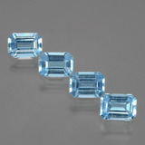 thumb image of 4.2ct Octagon Facet Swiss Blue Topaz (ID: 405239)
