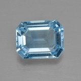 thumb image of 3.7ct Octagon Facet Swiss Blue Topaz (ID: 405287)