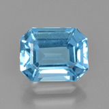 thumb image of 2.7ct Octagon Facet Swiss Blue Topaz (ID: 405652)