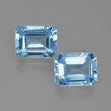 thumb image of 5ct Octagon Facet Swiss Blue Topaz (ID: 405684)