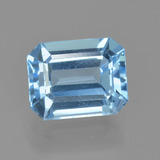 thumb image of 2.9ct Octagon Facet Swiss Blue Topaz (ID: 405703)