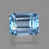 thumb image of 2.8ct Octagon Facet Swiss Blue Topaz (ID: 405704)