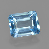 thumb image of 2.7ct Octagon Facet Swiss Blue Topaz (ID: 405705)