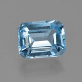 thumb image of 3.2ct Octagon Facet Swiss Blue Topaz (ID: 405724)
