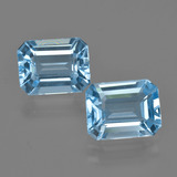 thumb image of 5.5ct Octagon Facet Swiss Blue Topaz (ID: 405855)