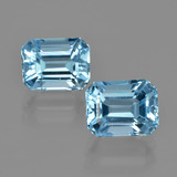 thumb image of 3.2ct Octagon Facet Swiss Blue Topaz (ID: 405943)
