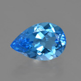 thumb image of 3.5ct Pear Facet Swiss Blue Topaz (ID: 409099)