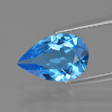 thumb image of 3ct Pear Facet Swiss Blue Topaz (ID: 409105)