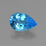 thumb image of 3.4ct Pear Facet Swiss Blue Topaz (ID: 409181)