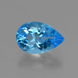 thumb image of 3.7ct Pear Facet Swiss Blue Topaz (ID: 409183)