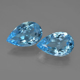thumb image of 9.9ct Pear Facet Swiss Blue Topaz (ID: 409402)